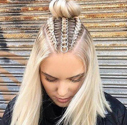 Why Hair Rings Are Your New Festival Must Have | Wella Stories For Best And Newest Rolled Roses Braids Hairstyles (View 10 of 25)