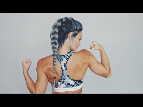 Workout Hairstyle   Dutch Braid – Youtube Inside Latest Five Dutch Braid Ponytail Hairstyles (View 10 of 25)