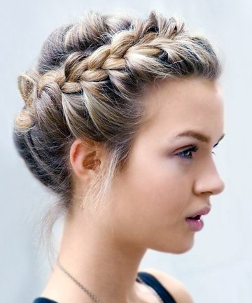 Woven Crown Braid, 17 Ridiculously Pretty Ways To Wear In Most Up To Date Braided Crown Rose Hairstyles (View 20 of 25)
