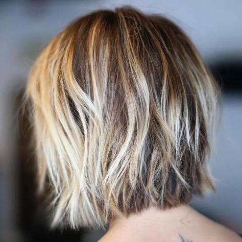 100 Mind Blowing Short Hairstyles For Fine Hair | Thin With Regard To Warm Balayage On Short Angled Haircuts (View 4 of 25)
