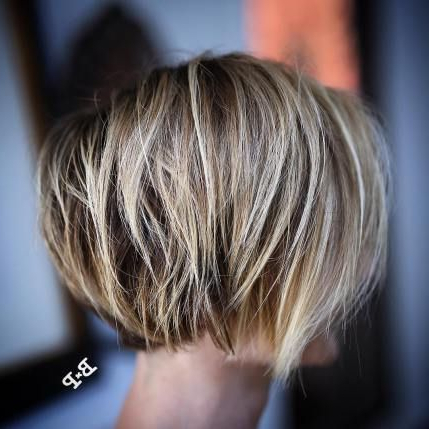 100 Mind Blowing Short Hairstyles For Fine Hair (With Inside Blunt Cut Blonde Balayage Bob Hairstyles (View 19 of 25)