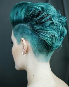 119 Best Candy Colored Hair: Just Teal With It Images In Pertaining To Latest Coral Mohawk Hairstyles With Undercut Design (View 4 of 25)