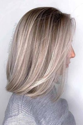 15 Chic Blunt Bob Hairstyles To Try In 2019   Bob With Regard To Blunt Cut Blonde Balayage Bob Hairstyles (View 3 of 25)