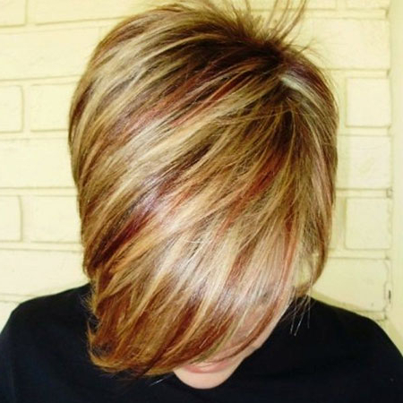 15 Red And Blonde Short Hair   Short Hairstyles & Haircuts Pertaining To Short Hairstyles With Delicious Brown Coloring (View 6 of 25)