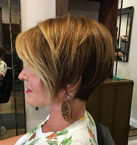 15 Short Brown Hairstyles For Women In Pixie Hairstyles With Red And Blonde Balayage (View 3 of 25)