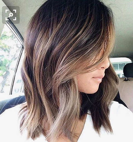 18 Medium Length Angled Bob Hairstyles   Bob Hairstyles With Ash Blonde Balayage Ombre On Dark Hairstyles (View 25 of 25)