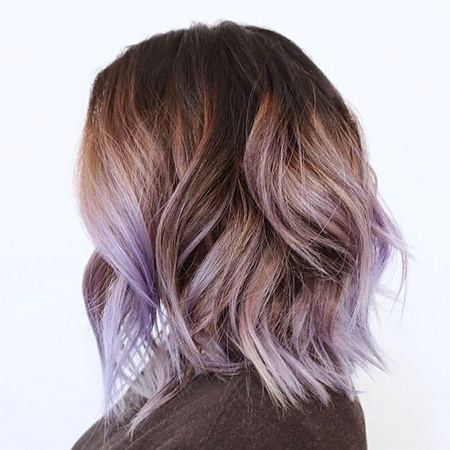 18 Ombre Hairstyles For Short Hair In Lavender Balayage For Short A Line Haircuts (View 5 of 25)