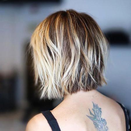 20+ Choppy Bob Haircuts 2017   Bob Haircut And Hairstyle Ideas In Blunt Cut Blonde Balayage Bob Hairstyles (View 2 of 25)