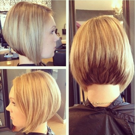 20 Cool Short Hairstyles With Bangs For 2015 – Pretty Designs For Cool Toned Angled Bob Hairstyles (View 3 of 25)