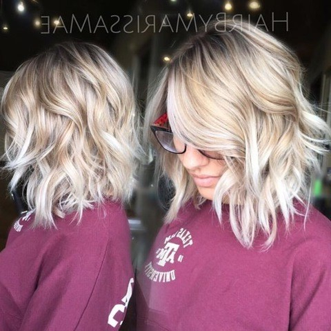 20 Haar Farbe Ideen: Platin Blonde Haare Pertaining To Blunt Cut Blonde Balayage Bob Hairstyles (View 14 of 25)