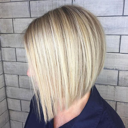 20 Layered Bob Haircuts For Fine Hair   Bob Hairstyles Pertaining To Ash Blonde Balayage For Short Stacked Bob Hairstyles (View 8 of 25)