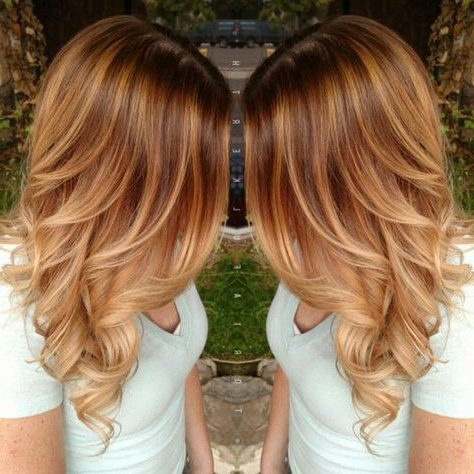 20 Shades Of Copper, Wonderful Pumpkin Spice Hair For This With Regard To Strawberry Blonde Balayage Hairstyles (View 5 of 25)