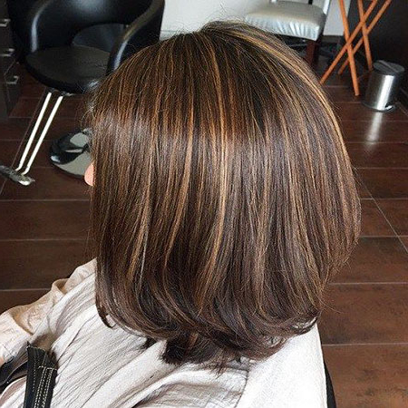 20 Short Dark Brown Hairstyles In Short Brown Hairstyles With Subtle Highlights (View 9 of 25)