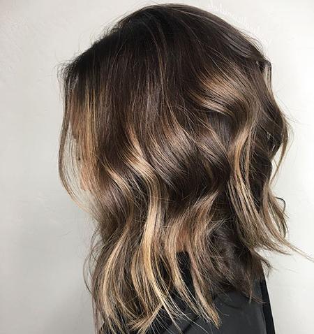 20 Short Dark Brown Hairstyles Inside Blonde Balayage Hairstyles On Short Hair (View 2 of 25)