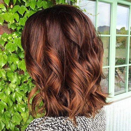 20 Short Hairstyles For Dark Hair | Short Hairstyles In Black Hairstyles With Brown Highlights (View 12 of 25)