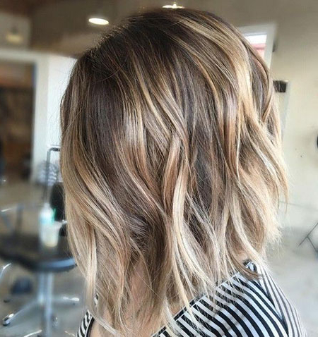 20 Short Trendy Haircuts In Blunt Cut Blonde Balayage Bob Hairstyles (View 5 of 25)