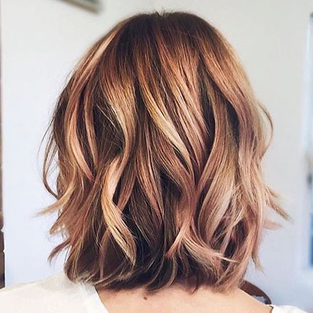 Featured Photo of Warm Balayage On Short Angled Haircuts