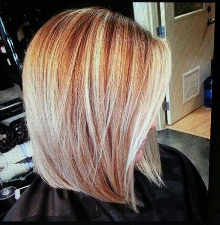 20 Shoulder Length Angled Bob Hairstyles   Bob Haircut And With Blunt Cut Blonde Balayage Bob Hairstyles (View 10 of 25)
