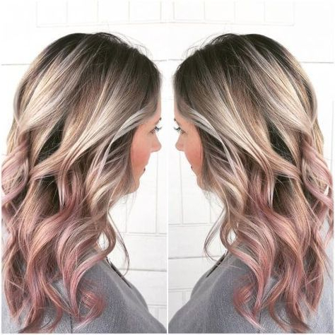 21 Best Rose Gold Hair Color Ideas For Stylish Women Pertaining To Natural Looking Dark Blonde Balayage Hairstyles (View 17 of 25)
