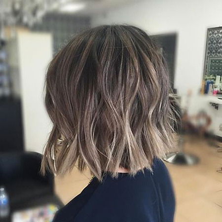 23 Amazing Short Ombre Hairstyles With Regard To Ash Blonde Balayage For Short Stacked Bob Hairstyles (View 10 of 25)