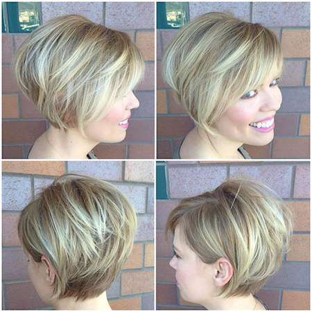 23 Short Hairstyles And Highlights | Short Hairstyles With Regard To Warm Balayage On Short Angled Haircuts (View 22 of 25)