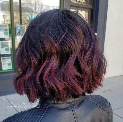 23 Trendy Hair Red Balayage Bob Haircuts #Hair # With Regard To Shaggy Bob Hairstyles With Blonde Balayage (View 5 of 25)