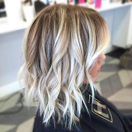 25 Best Blonde Long Bob Hairstyles | Bob Haircut And With Short Bob Hairstyles With Balayage Ombre (View 4 of 25)