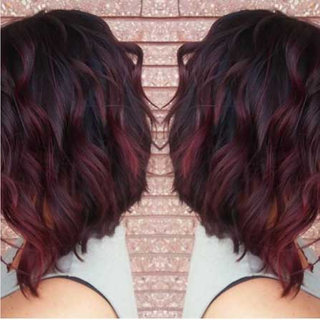 25+ Rouge Ombre De Cheveux Rouge Bordeaux – Coupe De Cheveux Within Bright Red Balayage On Short Hairstyles (View 13 of 25)