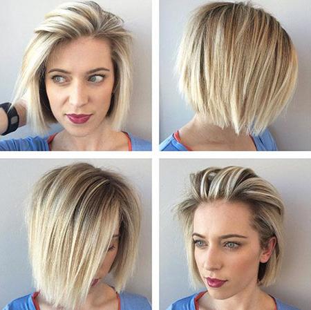 25 Short Straight Blonde Hairstyles 2017 – 2018 Throughout Blonde Balayage Hairstyles On Short Hair (View 15 of 25)