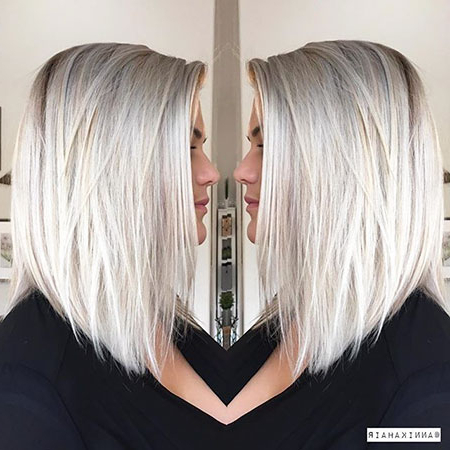 25 Short Straight Blonde Hairstyles 2017 – 2018 Within Blunt Cut Blonde Balayage Bob Hairstyles (View 13 of 25)