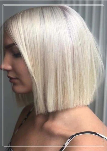 28 Banging Blonde Bob And Blonde Lob Hairstyles  Outre Intended For Blunt Cut Blonde Balayage Bob Hairstyles (View 18 of 25)