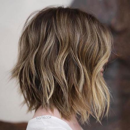 28 Neue Bob Haarschnitte Mit Highlights 2017 – Neue Frisur With Regard To Half Bob Half Pixie Hairstyles With Cool Blonde Balayage (View 8 of 25)