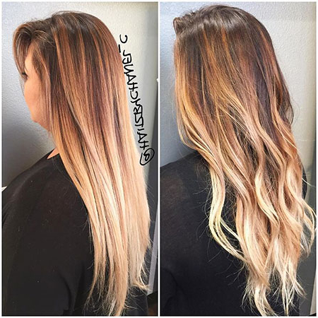 28 Ombre Straight Hair Styles | Hairstyles And Haircuts For Long Pixie Hairstyles With Dramatic Blonde Balayage (View 8 of 25)