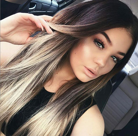 28 Ombre Straight Hair Styles   Hairstyles And Haircuts Within Blonde Balayage On Short Dark Hairstyles (View 24 of 25)