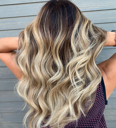 29 Pretty Balayage Hair Color Ideas For 2019 | Glamour Throughout Long Pixie Hairstyles With Dramatic Blonde Balayage (View 12 of 25)