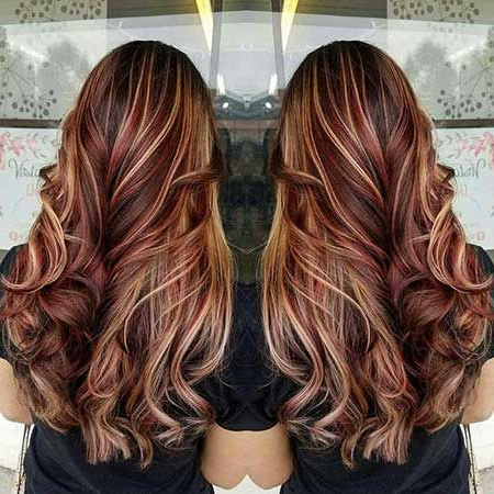 30+ Bilder Von Balayage Ombre Lange Frisuren | Frisuren For Burgundy Balayage On Dark Hairstyles (View 12 of 25)