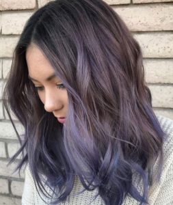 30 Brand New Ultra Trendy Purple Balayage Hair Color Ideas With Lavender Balayage For Short A Line Haircuts (View 15 of 25)