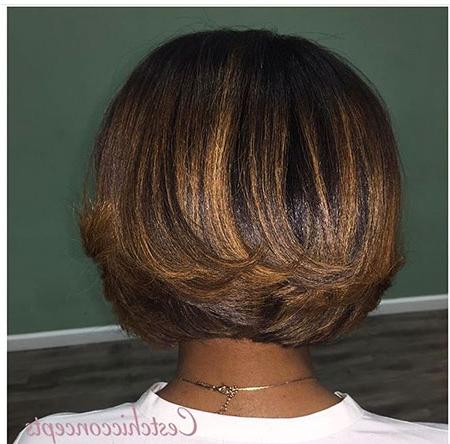 30 Popular African American Short Bob Haircuts   Bob Regarding Balayage For Short Stacked Bob Hairstyles (View 24 of 25)