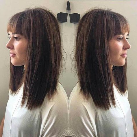 31 Lob Haircut Ideas For Trendy Women | Page 2 Of 3 With Lob Hairstyles With A Face Framing Fringe (View 17 of 25)