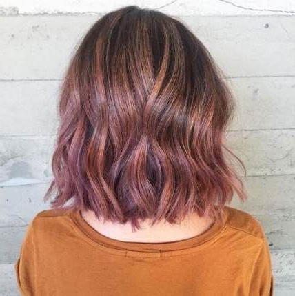 33+ Ideas Hair Pink Pastel Ombre Brown | Hair Styles Pertaining To Short Brown Balayage Hairstyles (View 8 of 25)