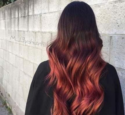 34+ Ideas Hair Red Ends Purple | Burgundy Hair, Black Hair With Burgundy Balayage On Dark Hairstyles (View 13 of 25)