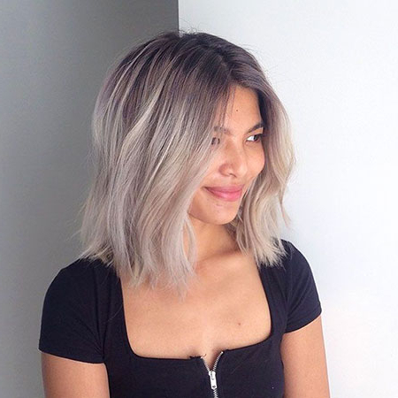 35 Short Ombre Hairstyles With Blonde Balayage On Short Dark Hairstyles (View 7 of 25)
