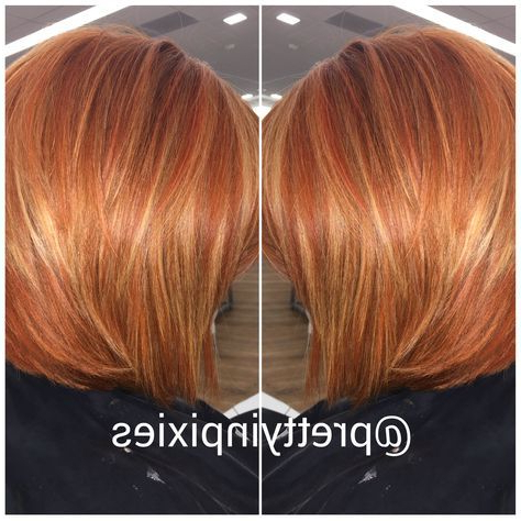 37 Ideas Hair Copper Bob Balayage For 2019 | Short Copper For Shaggy Bob Hairstyles With Blonde Balayage (View 19 of 25)