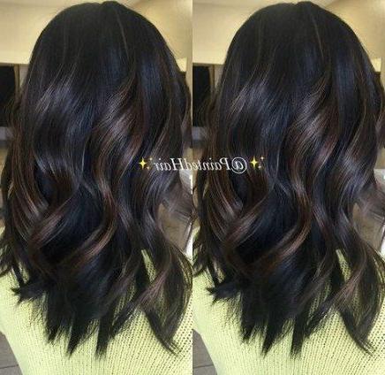 38+ Ideas Hair Black Lowlights Subtle Highlights For 2019 With Subtle Balayage Highlights For Short Hairstyles (View 5 of 25)