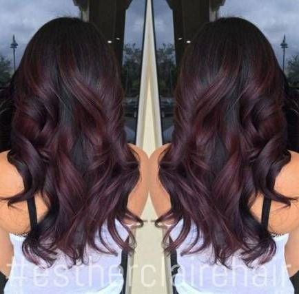 42 Ideas Hair Ombre Brown Red Burgundy | Lilac Hair For Burgundy Balayage On Dark Hairstyles (View 18 of 25)