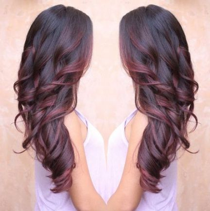 43 Ideas For Hair Red Ombre Balayage | Hair Styles, Hair With Burgundy Balayage On Dark Hairstyles (View 11 of 25)
