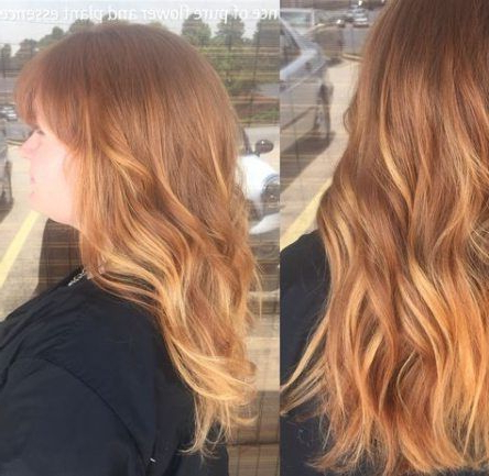 45 Ideas Hair Natural Ginger With Highlights | Balyage In Bright Red Balayage On Short Hairstyles (View 7 of 25)