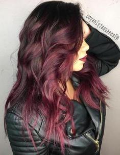 45 Shades Of Burgundy Hair: Dark Burgundy, Maroon Pertaining To Burgundy Balayage On Dark Hairstyles (View 14 of 25)