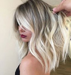 50 Amazing Blonde Balayage Haircolor – Hairstyles Magazine With Balayage Highlights For Long Bob Hairstyles (View 8 of 25)