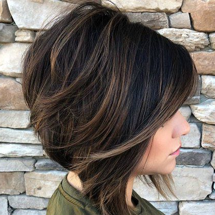 50 Best Short Haircuts For Women Of All Time | Haircut For Within Warm Balayage On Short Angled Haircuts (View 23 of 25)